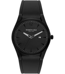 kenneth cole new york mens silicon slim watch 43.8mm