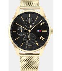 tommy hilfiger men's classic sub-dials watch wi gold mesh bracelet gold -