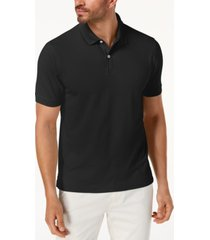 Club Room Heather Gray Mens Pique Performance Polo Shirt