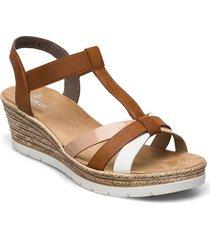 61995-81 sandalette med klack espadrilles brun rieker