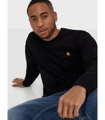 carhartt wip l/s american script t-shirt tröjor black