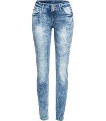 jeans skinny con lavaggio forte (blu) - rainbow