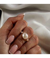 pierścionek lucia z pereł naturalnych