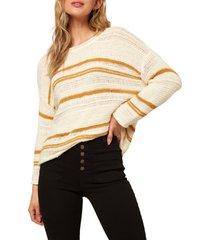 women's o'neill salty stripe sweater