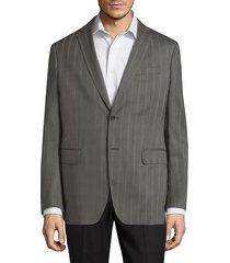 john varvatos star u.s.a. men's striped wool sport coat - walnut - size 52 (42) l