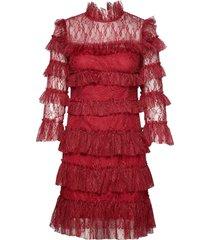 carmine mini dress kort klänning röd by malina