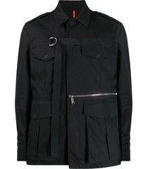 dsquared2 d-ring strap military jacket - black