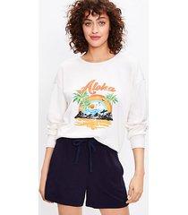 loft petite lou & grey aloha cozy cotton terry sweatshirt