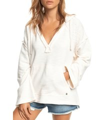 women's roxy sun beats down hooded pullover, size x-small - white