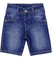 shorts infantil look jeans básico jeans masculino