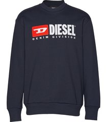 s-crew-division sweat-shirt sweat-shirt trui blauw diesel men