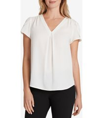 tahari asl tulip-sleeve v-neck blouse