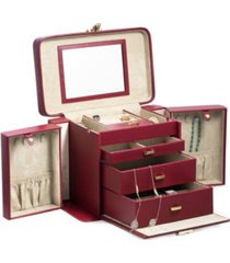 bey-berk lizard 4 level jewelry box with travel pouch