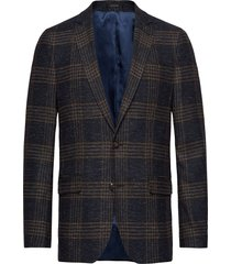 large checked blazer blazer colbert blauw lindbergh
