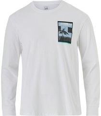 t-shirt ls graphic crew