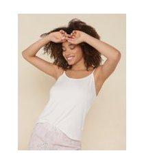 amaro feminino blusa alcinha pijama, off-white