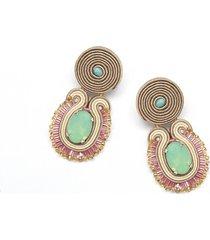 kolczyki pacific opal - miętowe / sutasz