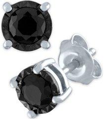 black diamond stud earrings (3/4 ct. t.w.) in sterling silver