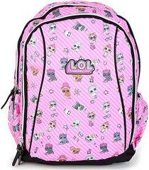 mochila escolar infantil luxcel lol susprise - feminino