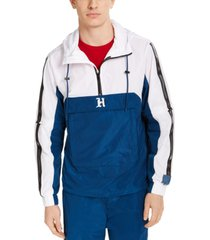 tommy hilfiger men's lewis hamilton half-zip track jacket