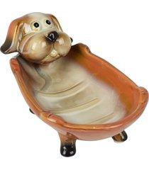 saboneteira cachorro laranja - multicolorido - dafiti