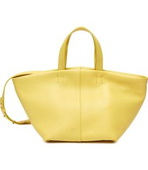'tulipano' top handle leather satchel