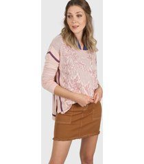 sweater rosa ted bodin jacard