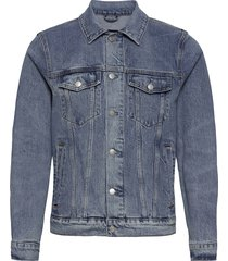 anf mens outerwear jeansjack denimjack blauw abercrombie & fitch