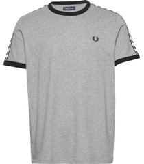taped ringer t-shirt t-shirts short-sleeved grå fred perry
