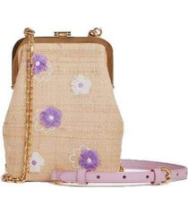 embellished susanna crossbody leather frame pouch bag