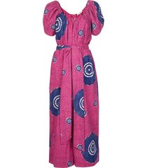 ulla johnson perla printed poplin jumpsuit - pink