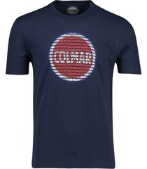 colmar t-shirt donkerblauw geprint