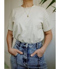 bawełniana koszulka t-shirt, jasna oliwka