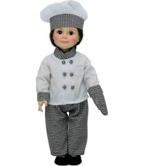 """18"""" doll clothes, complete 6 piece chef's outfit, compatible for use with american girl dolls"""