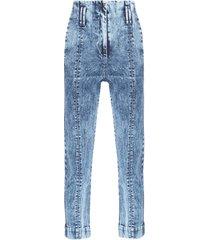 calça feminina jeans clochard - azul