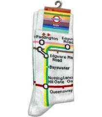 white socks with underground tube metro map transport for london souvenir gift