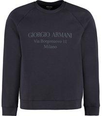 giorgio armani printed crew-neck sweatshirt