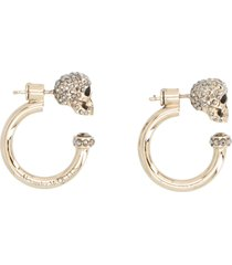 alexander mcqueen skull earrings