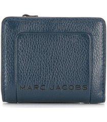 marc jacobs carteira box com efeito craquelado - azul