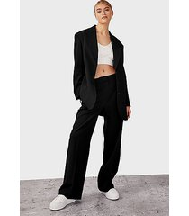 black belted blazer - black