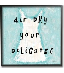"""stupell industries air dry your delicates dress framed giclee art, 12"""" x 12"""""""