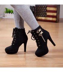plataforma de tacones altos mujer lace up zapatos mujer tacon zapatos dama