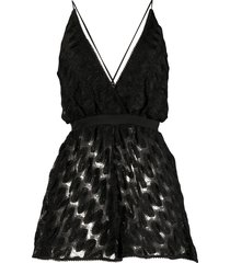 missoni mare deep v-neck knit playsuit - black