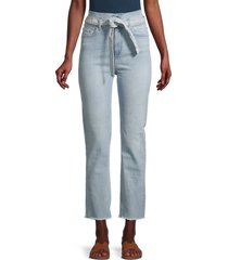 dl1961 women's mara paperbag jeans - glenmore - size 26 (2-4)