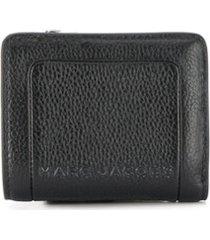 marc jacobs carteira box com efeito craquelado - preto