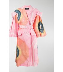 simone rocha patchwork floral trench coat