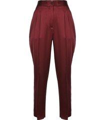 lia mid rise front pleat pants