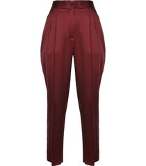 lia mid rise front pleat pants