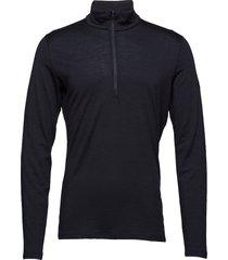 mens 200 oasis ls half zip t-shirts long-sleeved zwart icebreaker