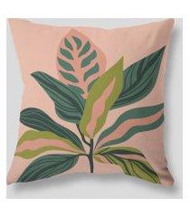 amaro feminino design up living capa de almofada tropical 42x42, rosa